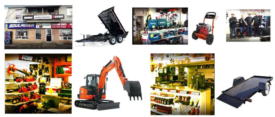 a collage of products and equipments provided by the team